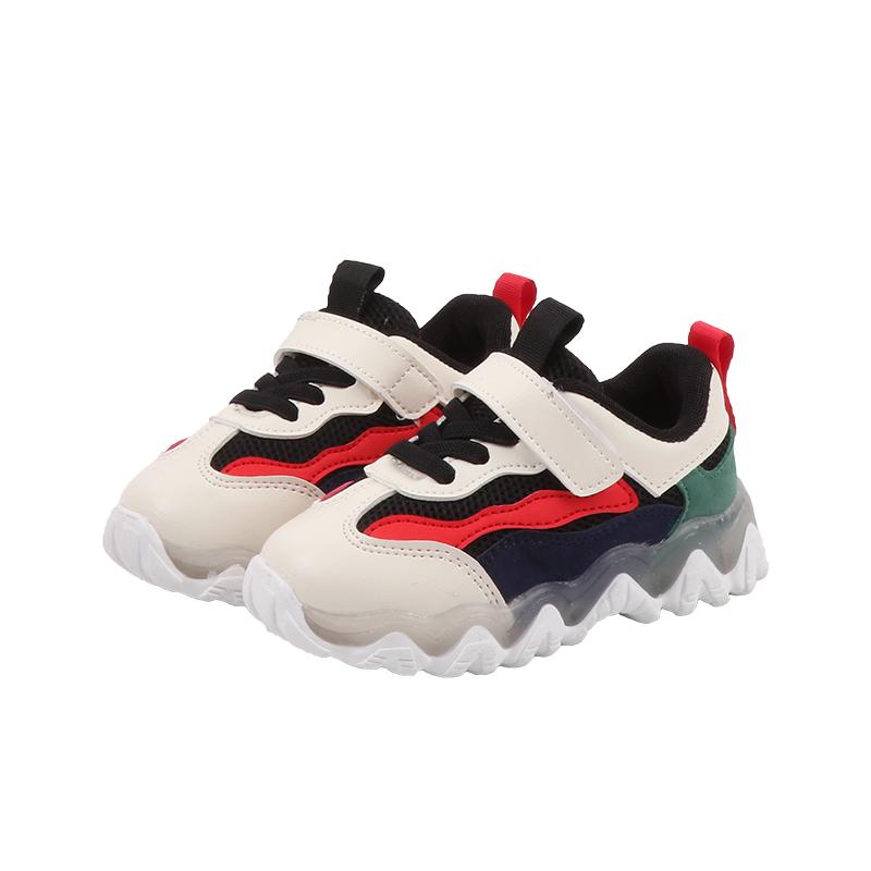 春季新款儿童运动鞋亮灯女童时尚男童老爹鞋休闲鞋宝宝发光鞋 2020