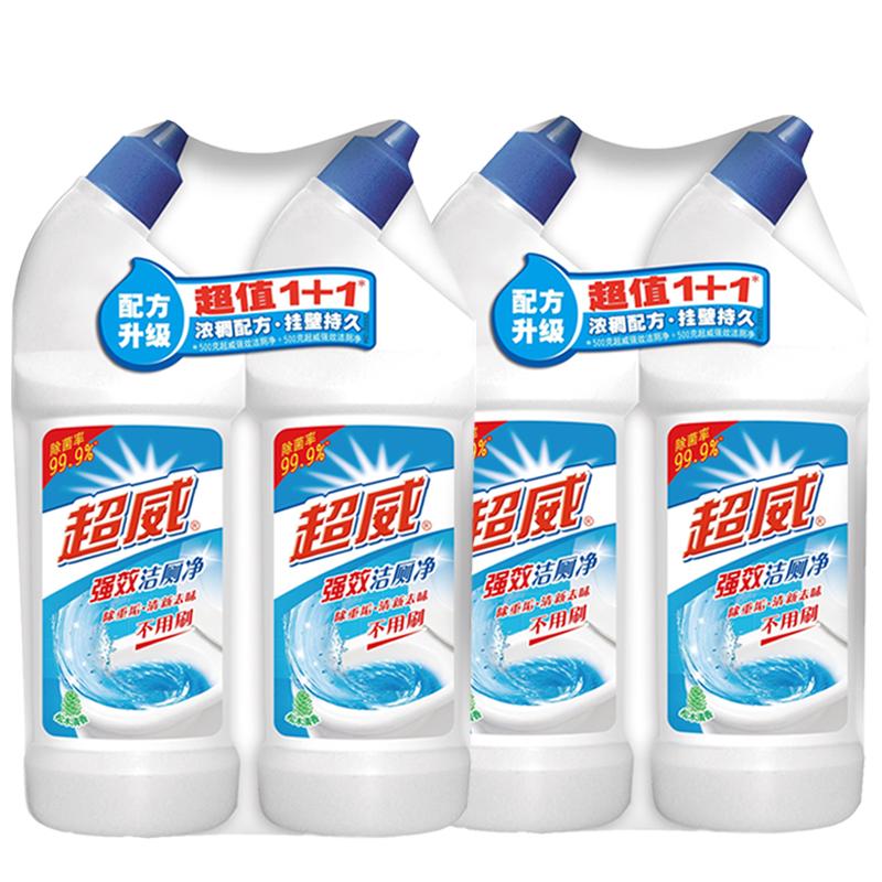 立白超威洁厕液4瓶套装强效除垢洁厕净特惠装家用清香型旗舰店-给呗网