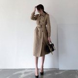 British style in the long section of the popular khaki women's trench coat spring 2020 Korean version of the slim coat temperament coat