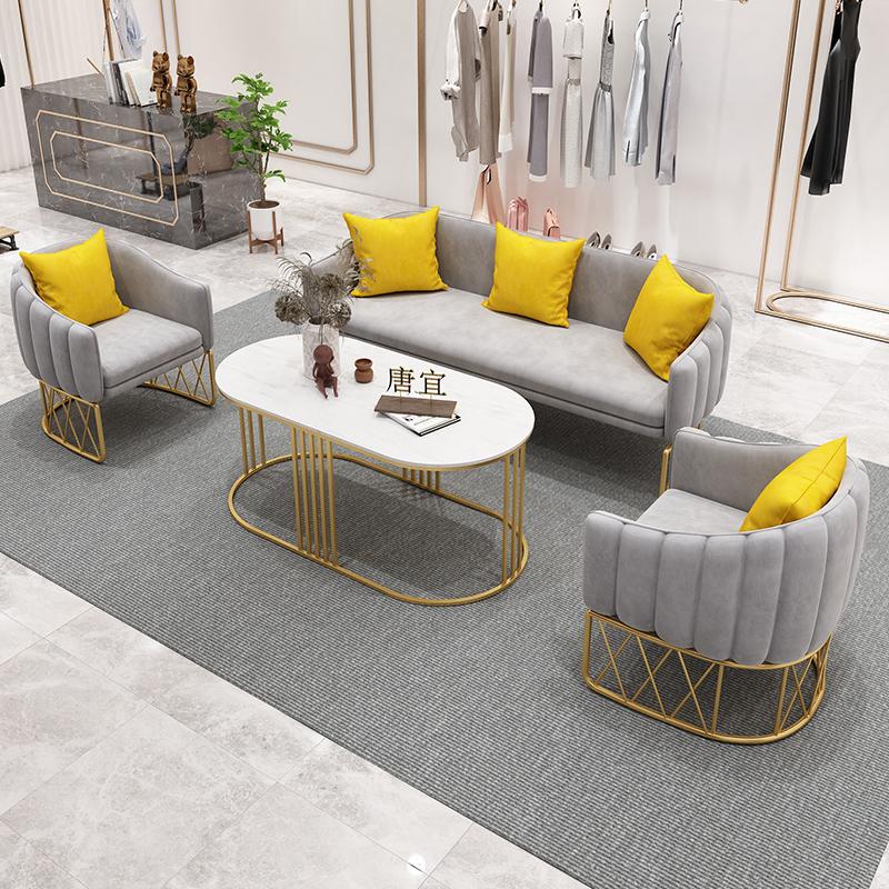 美容院接待沙发简约现代店铺用工作室会客网红款北欧服装店小沙发