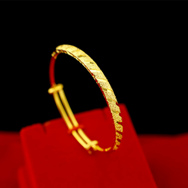 18K黄金手镯手链送妈妈女友爱人礼物