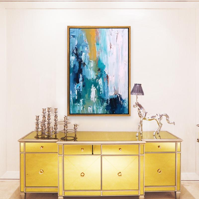 客厅家居纯手绘抽象油画酒店房间装饰画餐厅走廊挂画卧室书房壁画
