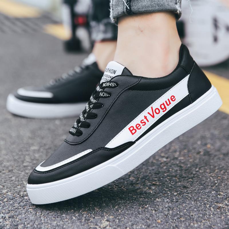 夏季新款透气男鞋小白鞋男韩版百搭白色板鞋男士休闲鞋学生潮鞋