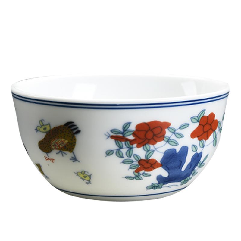 道誉2.8亿鸡缸杯复刻盏杯鎏银茶杯单个陶瓷茶碗复古家用品茗茶具