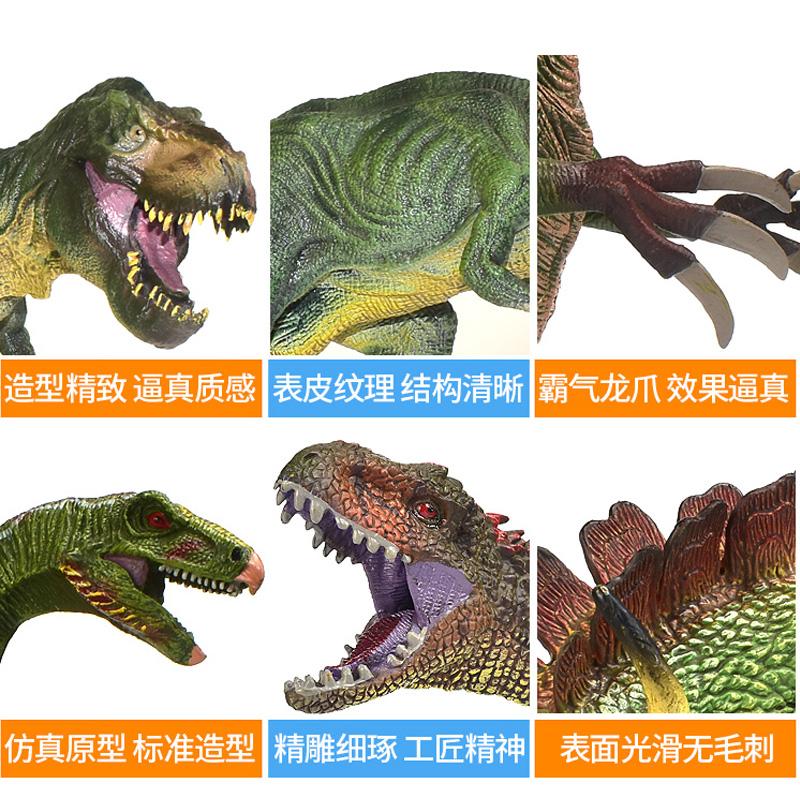 恐龙玩具侏罗纪儿童塑胶仿真超大号男孩动物模型套装霸王龙礼物