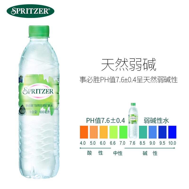 事必胜马来西亚进口高端天然纯净矿泉水600ml/24大瓶饮用水包邮
