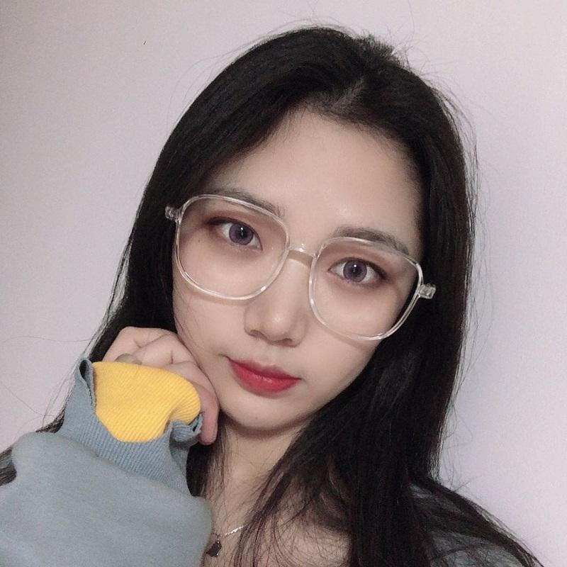 防蓝光辐射近视眼镜女大框网红款眼睛镜框镜架男韩版潮护目平光镜