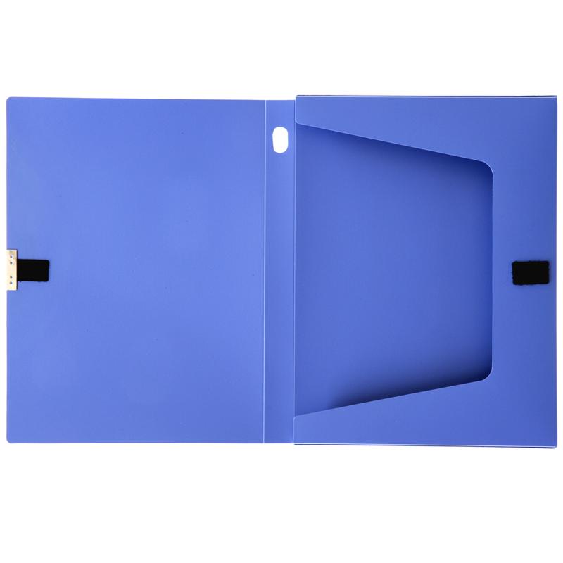 得力档案盒文件盒A4文件收纳凭证办公蓝色25/35/55/75mm 多个装 多省包邮