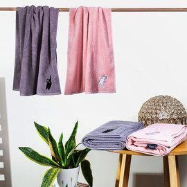 毛巾浴巾纯棉情侣款一对吸水速干网红性感女长款裹身体家用二件套
