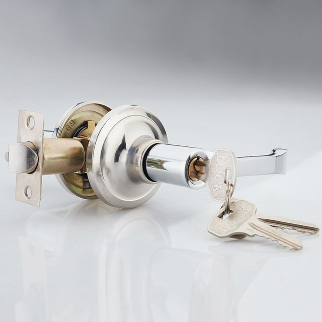 Bathroom Door Locks Toilet Three-Pole Handle Lock Indoor Bathroom Kitchen Toilet Single Tongue Office Hardware Lock
