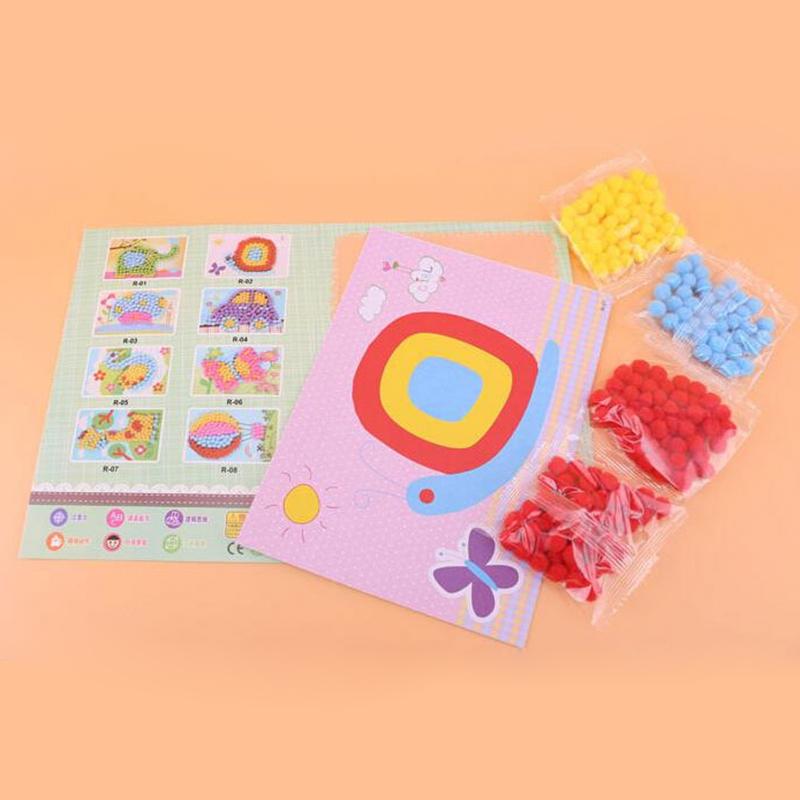 小熊家儿童手工立体粘贴绒球画毛球画幼儿园早教益智创意玩具