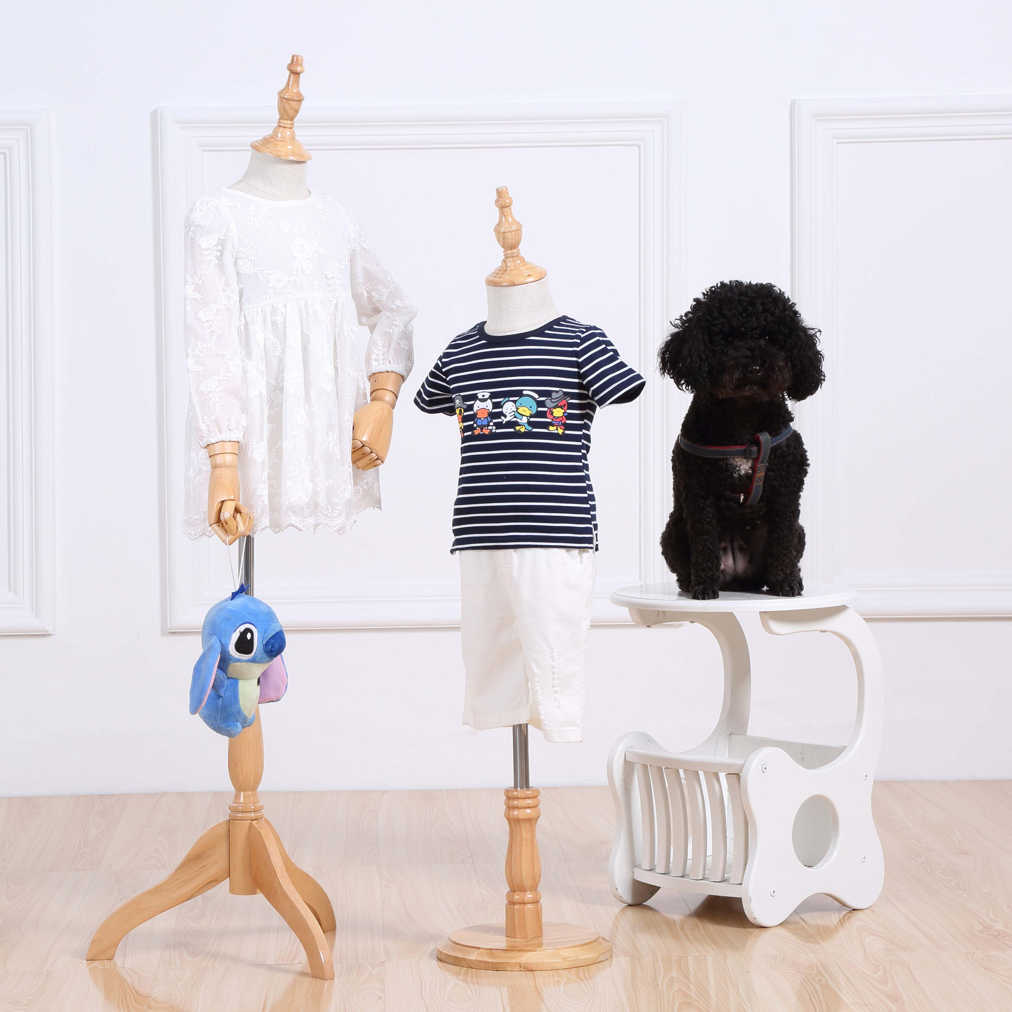 儿童模特道具橱窗展示架 服装店半身包布男女童装店小孩模特人台