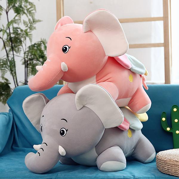 大象安抚抱枕毛绒玩具小象公仔玩偶宝宝睡觉布娃娃生日礼物女孩