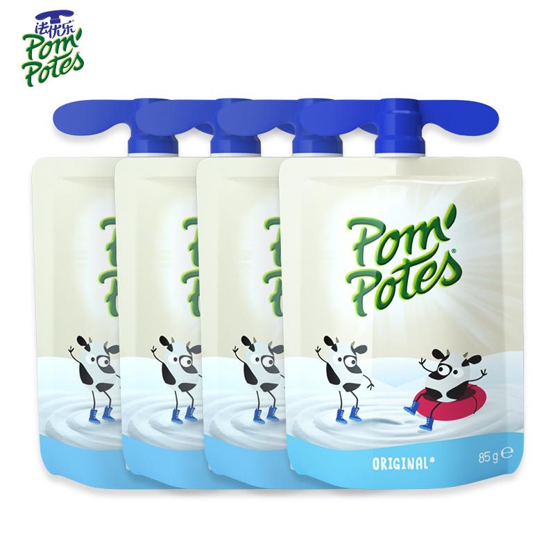 法优乐儿童酸奶法国原装进口宝宝常温酸奶85g*4袋青少年早餐酸奶