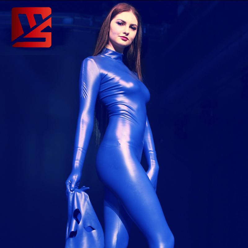 魅色乳胶氨全包衣塑身连体紧身内衣CD变装男女束敷舞台演出装B04