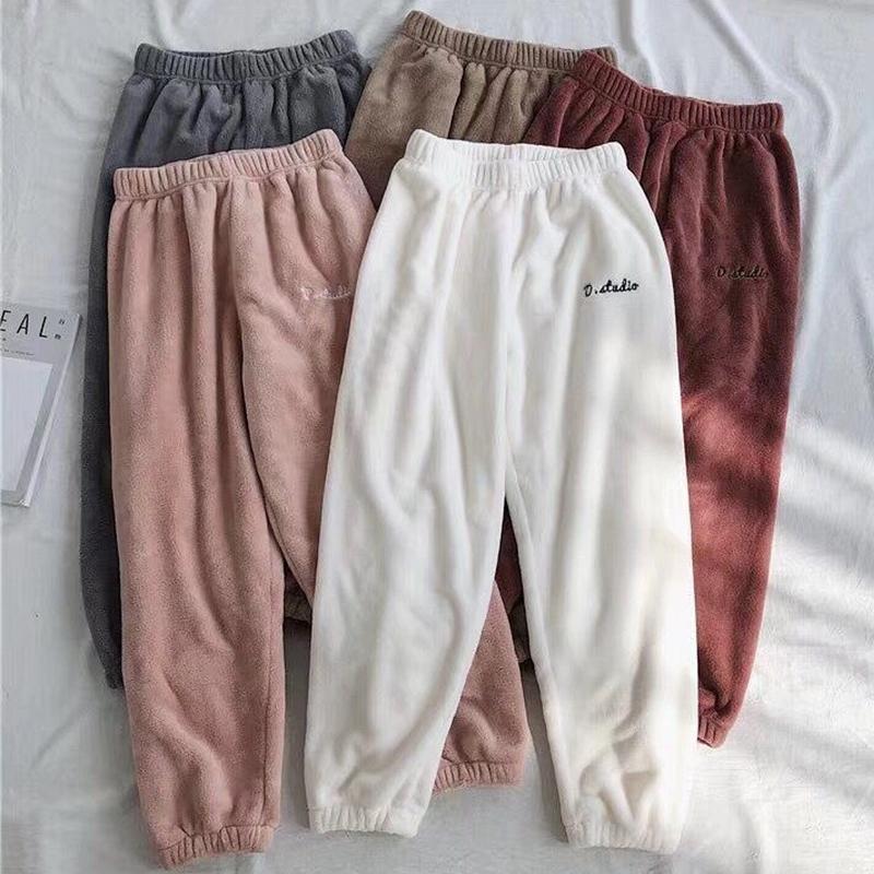 炫芝儿童暖暖裤仙女裤子加厚男孩女孩童冬季珊瑚绒保暖裤睡裤亲子