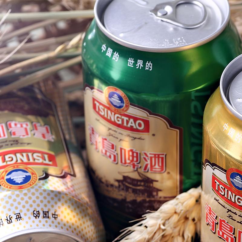登州路一厂产,330mlx24瓶 青岛啤酒 栈桥风光系列经典熟啤酒