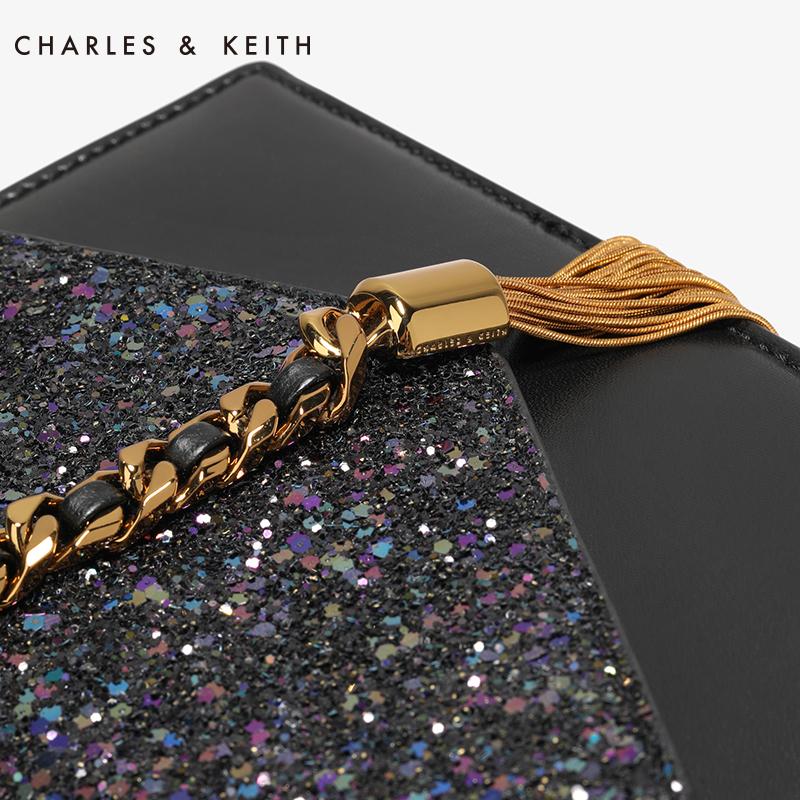 流苏装饰单肩链条小方包 20160030 CK2 信封包 KEITH & CHARLES