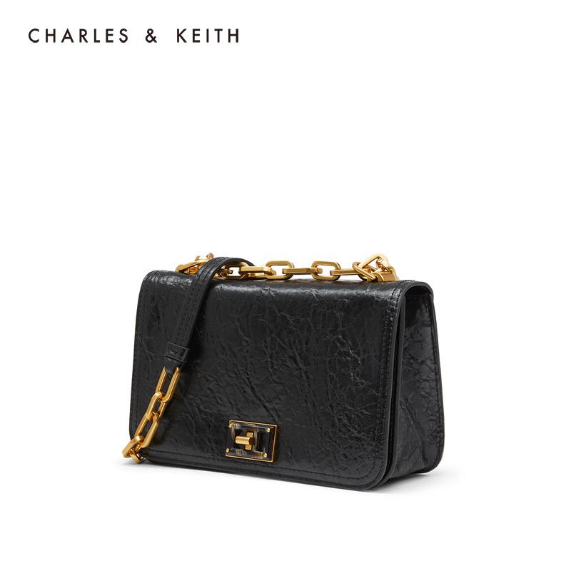 链条翻盖女士单肩小方包 80780996 CK2 冬季新品 KEITH2019 & CHARLES