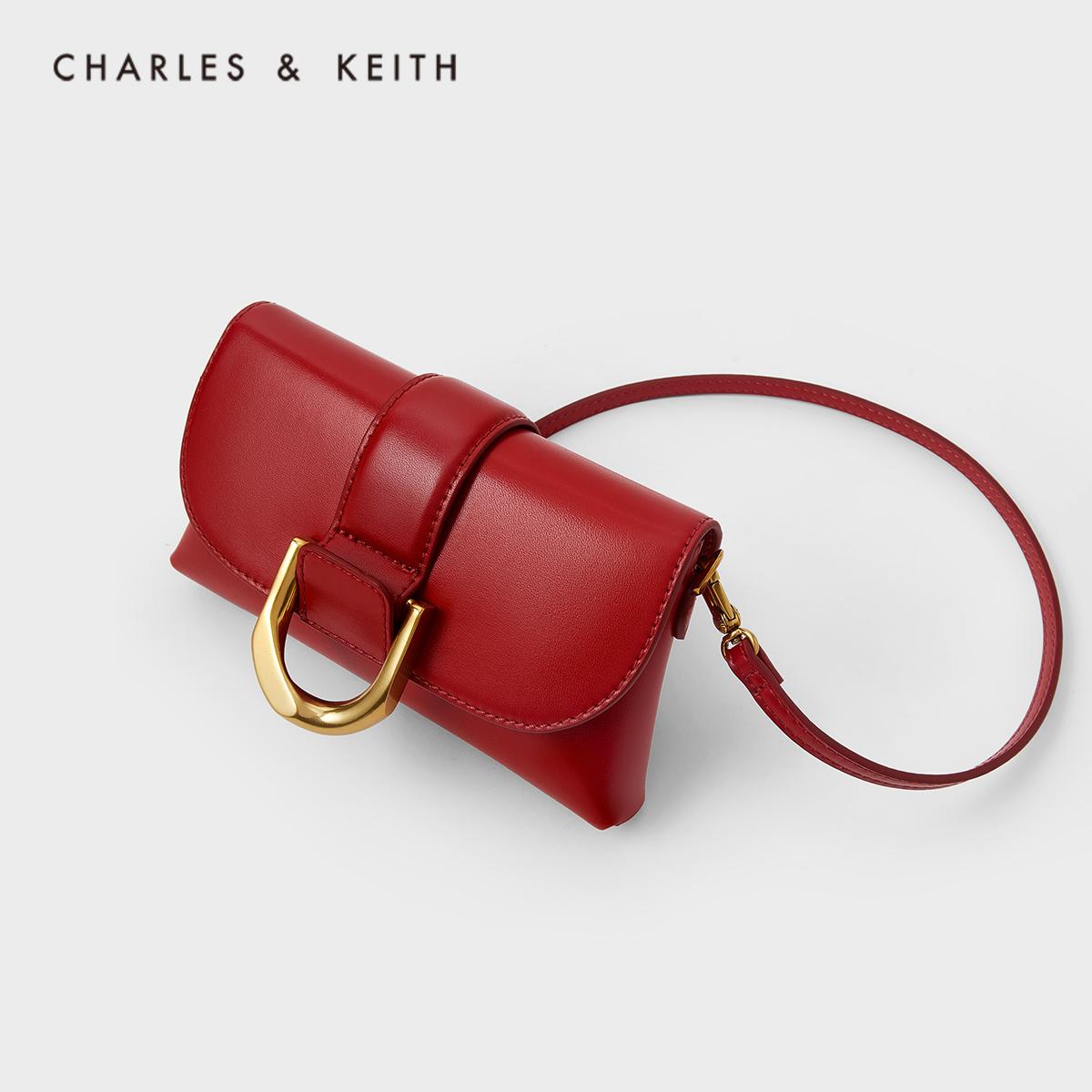 女士马蹄扣手提斜挎腰包 80701096 CK2 春新品 KEITH2021 & CHARLES