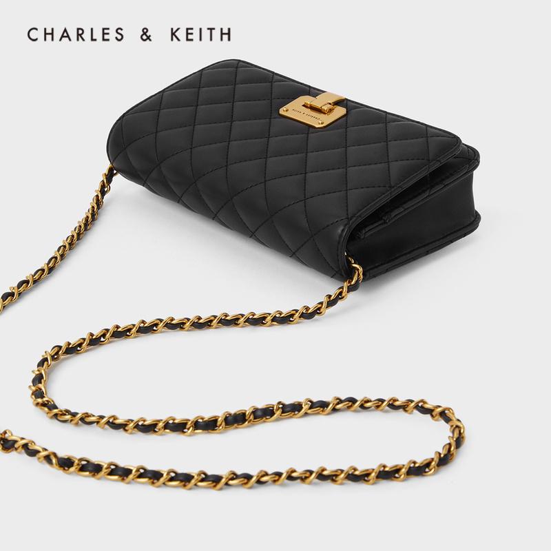 女士菱格链条斜挎包 2 70160082 CK2 秋冬新品 KEITH2020 & CHARLES