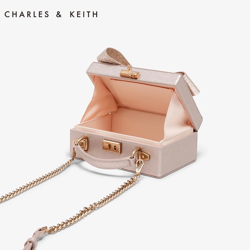 金属链条蝴蝶结饰女士单肩包 50700838 CK2 小方包 KEITH & CHARLES