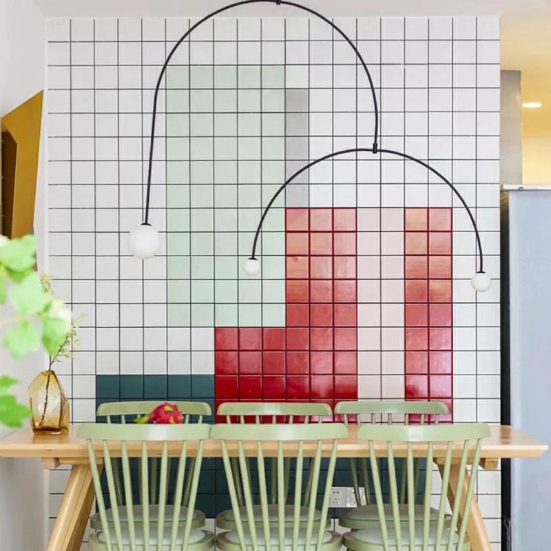 北欧网红九宫格小白砖厨房亚光墙砖卫生间全瓷地砖浴室马赛克瓷砖
