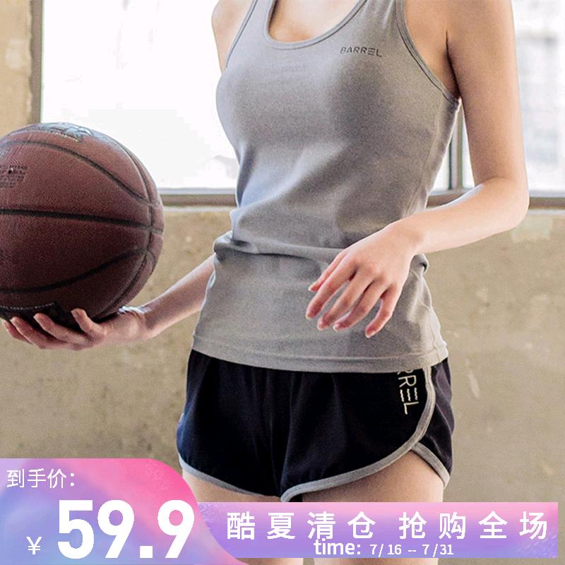 跑步健身服女套裝 顯瘦瑜伽服速幹背心緊身跑步短褲運動兩件套潮