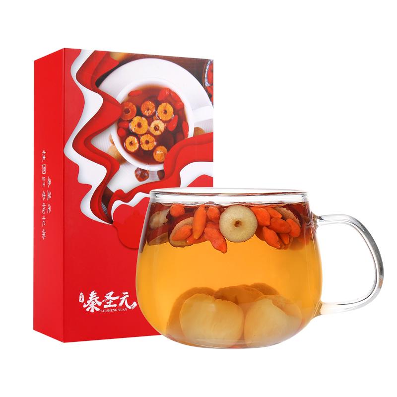 红枣桂圆枸杞茶小袋装红枣片泡水喝女養生气血养颜桂圆红枣枸杞茶