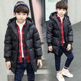 2019 new winter coat boy child in the long section down padded jacket thick coat boy Korean wave