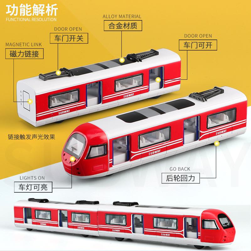 儿童玩具合金仿真绿皮火车模型复兴玩具车地铁动车高铁和谐号男孩