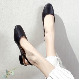 百搭复古罗马包头凉鞋女平跟2020夏季新款仙女风平底鞋子后空女鞋