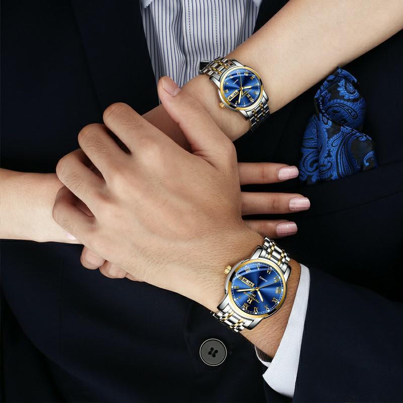 瑞之缘爆款精钢壳钢带钢表圆形正品石英表商务手表