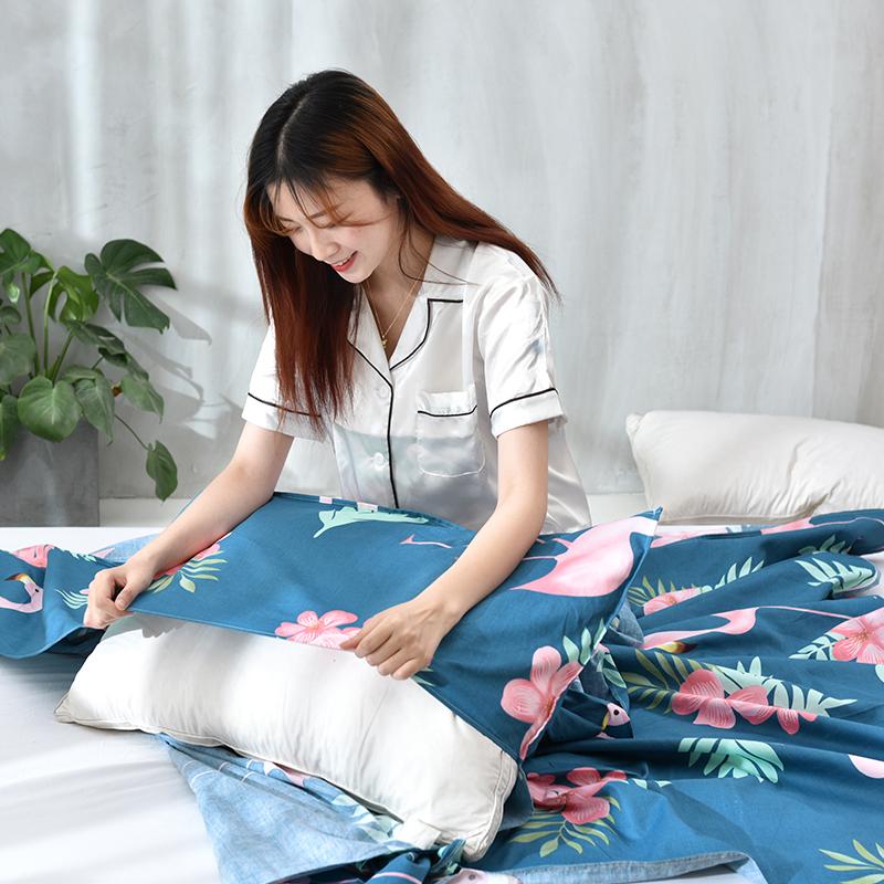 隔脏睡袋出差旅行旅游住酒店宾馆床单便携式单双人轻薄纯棉防脏