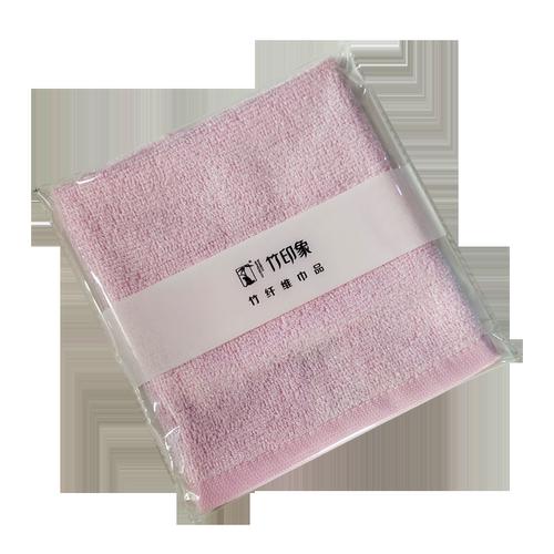 竹印象彩色吸汗竹棉中方巾竹纤维可爱毛巾女士方巾柔软