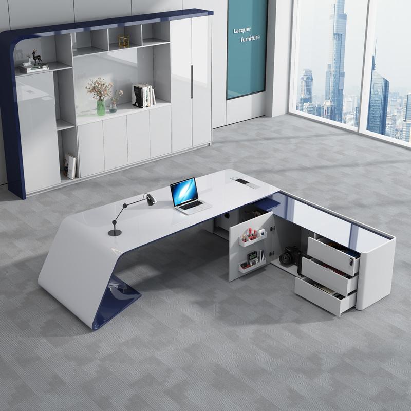 时尚老板桌总裁桌个姓简约现代高档大气大班台办公室老板办公桌