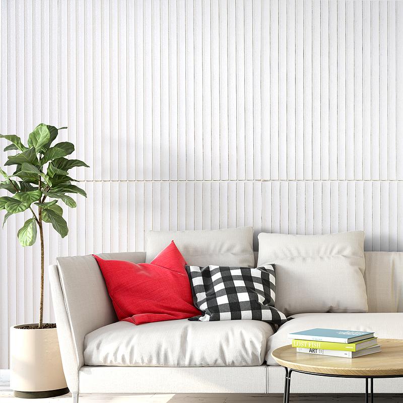 防撞防水防潮软包装饰壁纸 10mm 立体水泥墙贴纸加厚 3D 墙纸自粘卧室