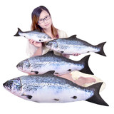 Simulation fish pillow plush toy doll doll salted fish pillow salmon salmon sleeping pillow long pillow fish