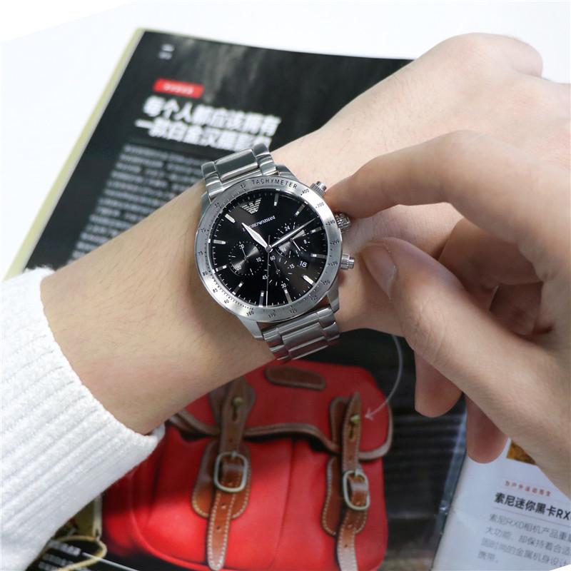Armani阿玛尼手表男 新款钢带手表时尚石英男士腕表AR11241