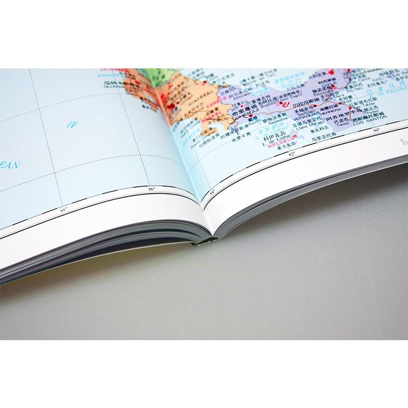 實用工具熱賣 中國地圖出版社 地名索引 城市圖 分國圖 序圖 學生地理 老人書房 全彩印刷 分國地圖冊 大字版 版 2019 世界地圖集