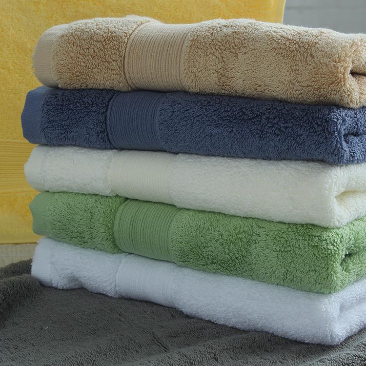 美國進口埃及長絨棉大毛巾酒店加厚強吸水純色柔軟純棉緞檔毛巾