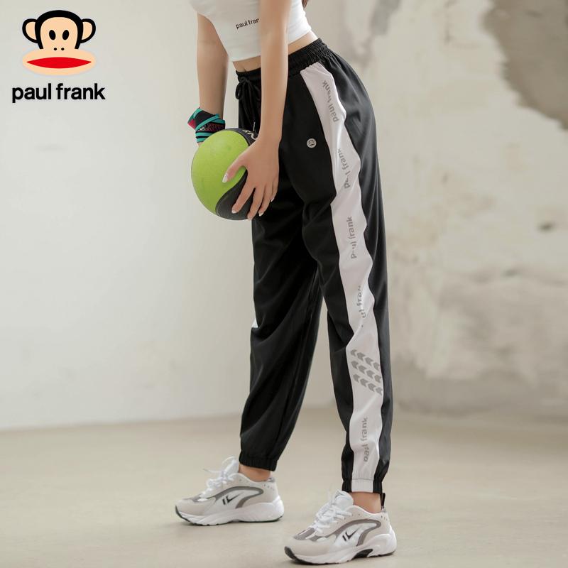 大嘴猴夏季新款运动裤女宽松束脚速干跑步大码侧边小字母休闲 长裤