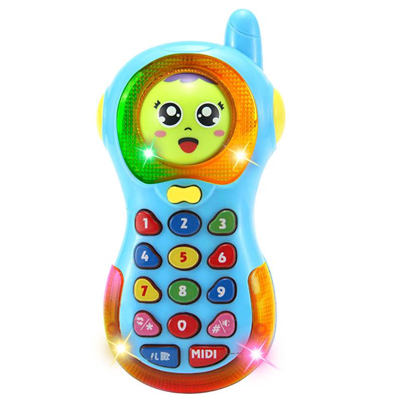 变脸手机玩具婴儿儿童早教益智音乐小孩玩具电话机宝宝