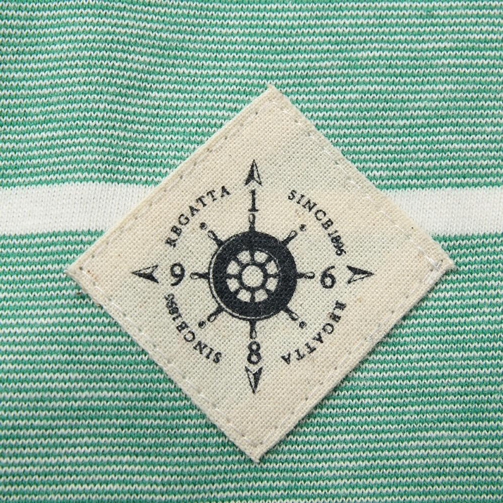 赛艇俱乐部夏装纯棉短袖翻领t恤男条纹宽松商务休闲英伦polo衫男