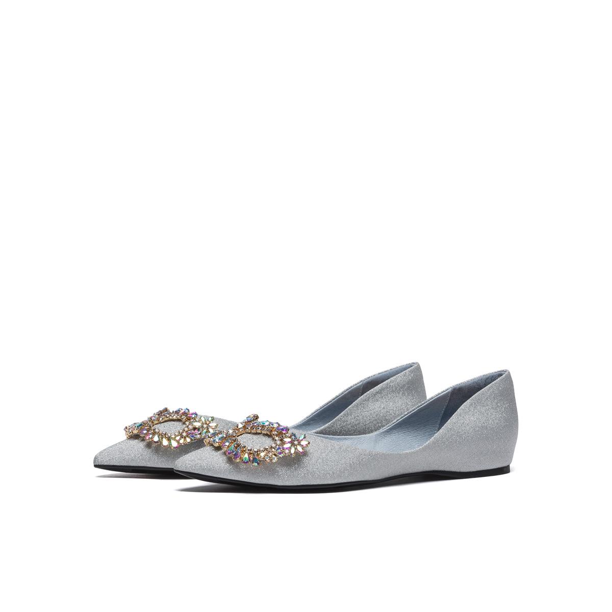 SS11111688 春季低平跟假面欧美尖头女鞋 2021 星期六浅口单鞋 直