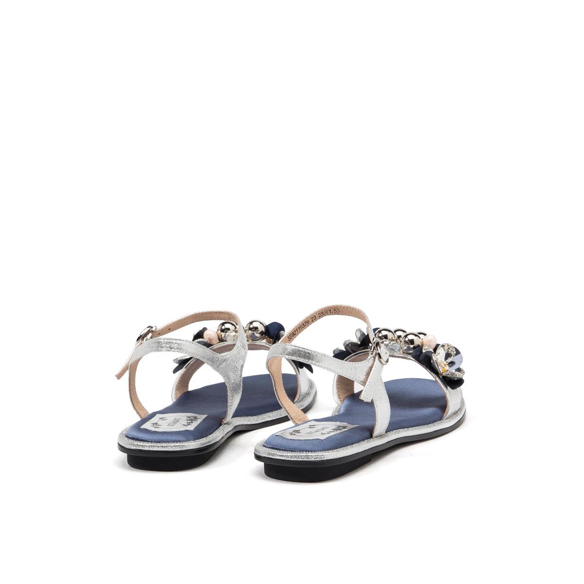 SS92115379 新款夏季女平底鞋一字带凉鞋女 2019 星期六凉鞋 Sat & St