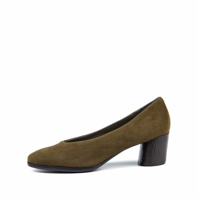 SS73111245 星期六春款中跟奶奶鞋羊反绒通勤粗跟女单鞋 Sat & St