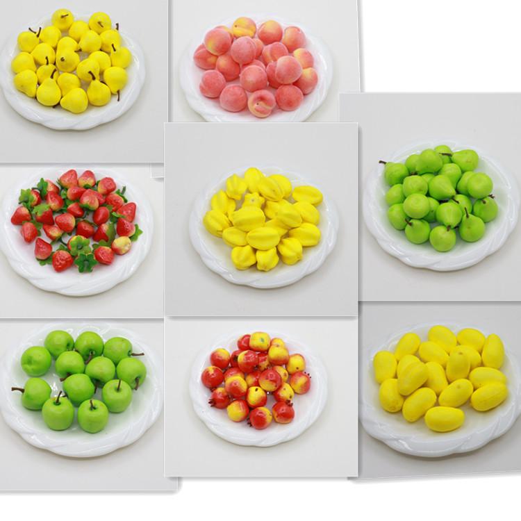 仿真水果 仿真迷你水果 水果模型 假水果 人造水果苹果桃梨子草莓