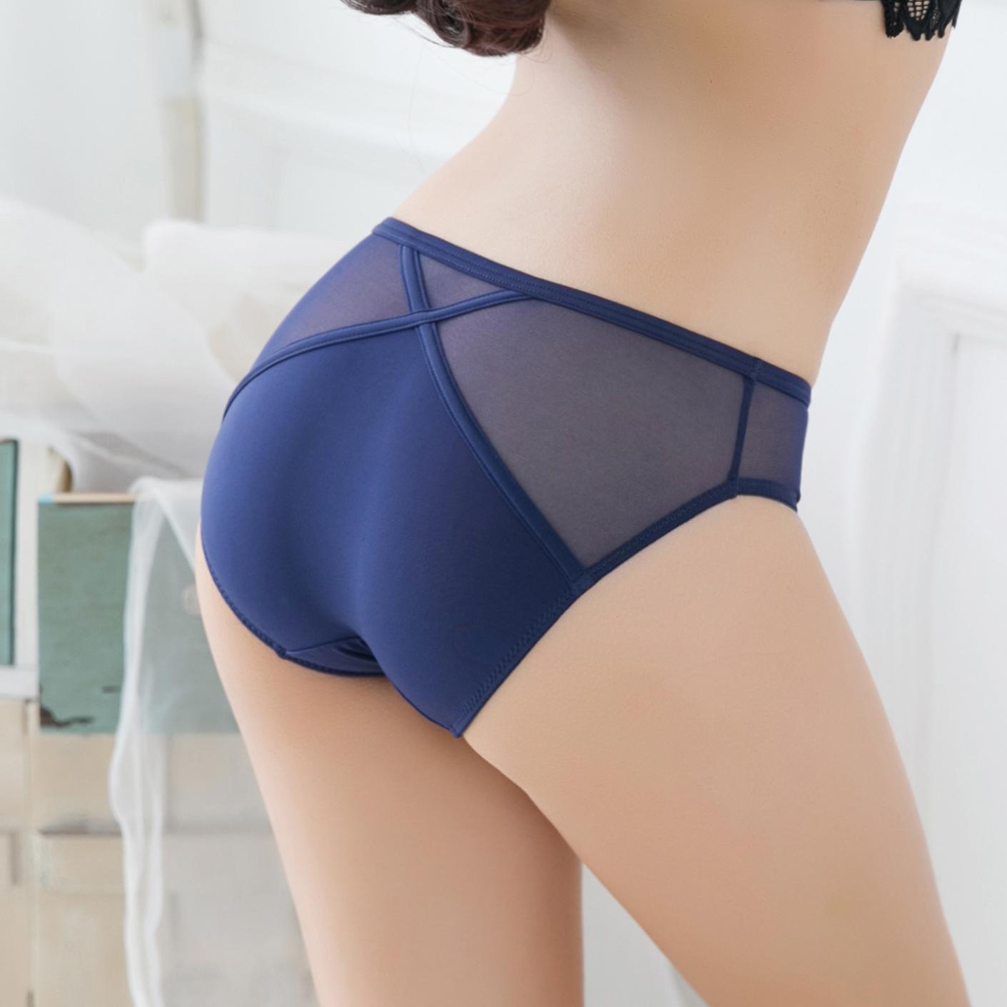 3条装 冰丝超薄无痕女士三角裤纯棉档 低腰火辣 性感内裤