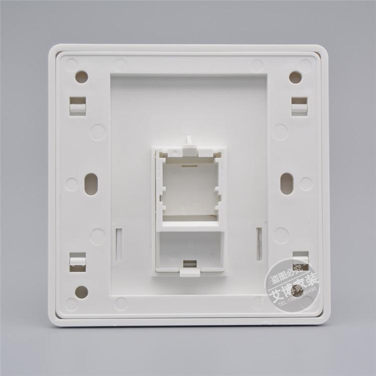 86型单口安普网络电脑电话信息面板 促销AMP空白墙壁插座不含模块